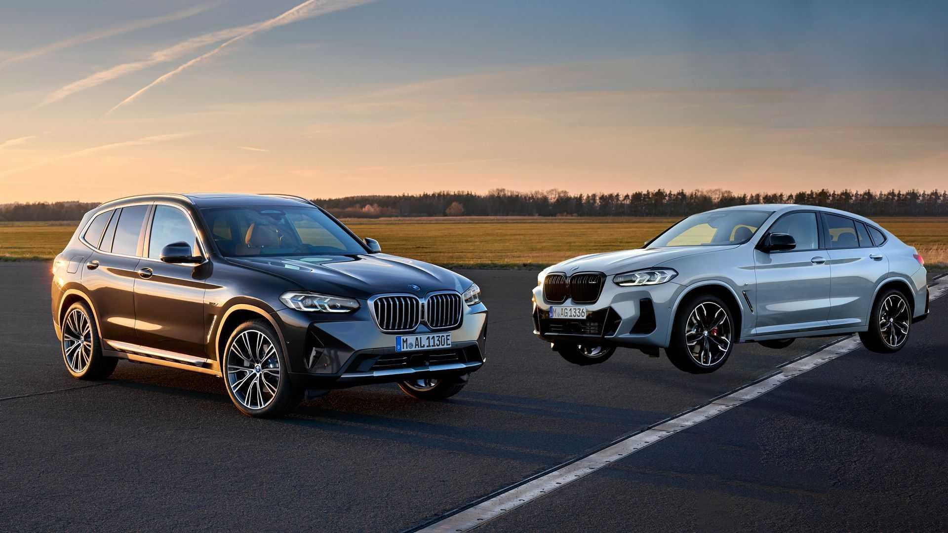 BMW презентувала оновлені кросовери X3 та X4